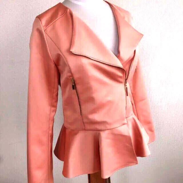 eimy istoire(エイミーイストワール)のエイミーイストワール ペプラムライダースジャケット 未使用品 レディースのジャケット/アウター(ライダースジャケット)の商品写真