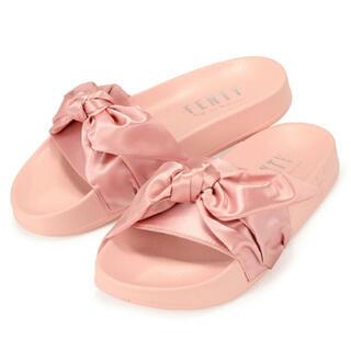 PUMA - puma×fenty  ピンク リボン 可愛い♡ 23〜24.5cm 美品