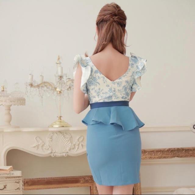 JEWELS(ジュエルズ)の2WAYペプラム クロスデザインJEWELSキャバドレス レディースのフォーマル/ドレス(ミニドレス)の商品写真