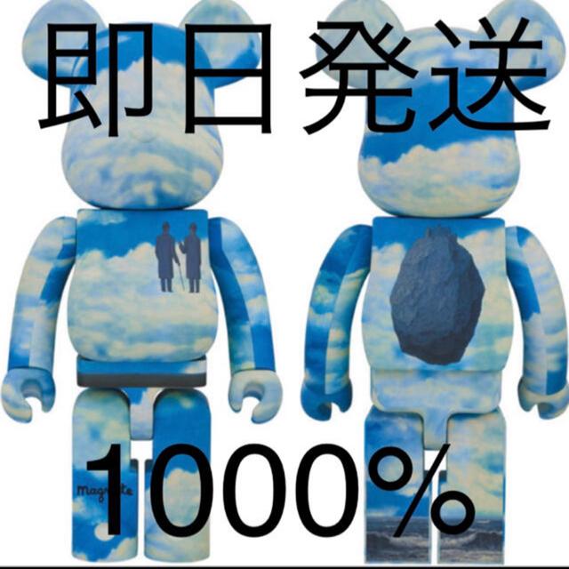 MEDICOM TOY(メディコムトイ)のpopbyjun BE@RBRICK René Magritte 1000% エンタメ/ホビーのおもちゃ/ぬいぐるみ(キャラクターグッズ)の商品写真