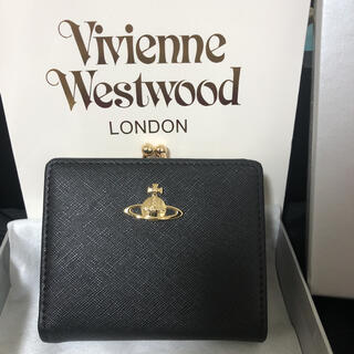 Vivienne Westwood - ヴィヴィアン 財布 がま口 ブラック Vivienne westwood
