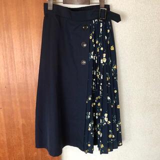 シマムラ(しまむら)の☆新品☆ しまむら プリーツ花柄スカート(ロングスカート)