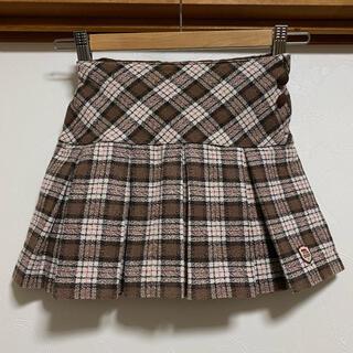 mikihouse - 美品 ミキハウス チェックスカート 120 プリーツスカート スカート 入学式