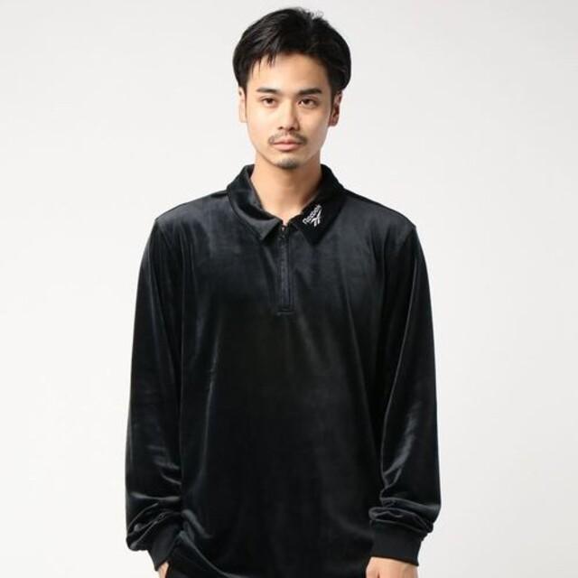 Reebok(リーボック)の【新品M】Reebok ハーフジップ ベロアシャツ メンズのトップス(シャツ)の商品写真