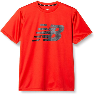 ニューバランス(New Balance)のnew balance ニューバランス 半袖Tシャツ ビッグロゴ赤 メンズM新品(ウェア)