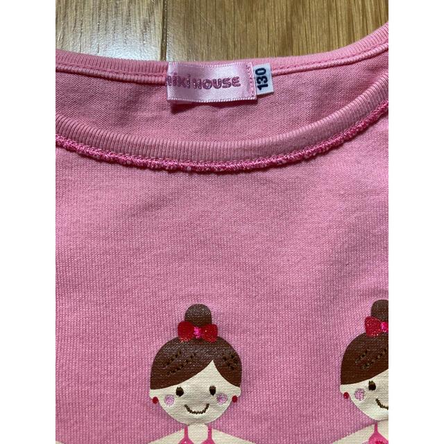 mikihouse(ミキハウス)のミキハウス リーナちゃん 長袖Tシャツ 130センチ キッズ/ベビー/マタニティのキッズ服女の子用(90cm~)(Tシャツ/カットソー)の商品写真