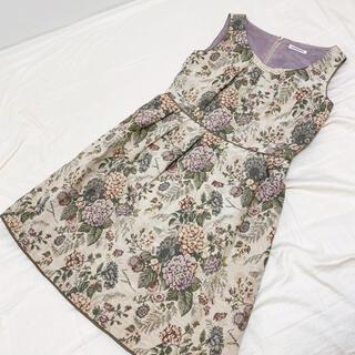 ロイスクレヨン(Lois CRAYON)のロイスクレヨン 紫陽花柄ワンピース Mサイズ(ひざ丈ワンピース)