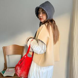 スタイルナンダ(STYLENANDA)の新品 スタイルナンダ stylenanda ニット 帽子 ハット 耳当て 韓国 (ハット)