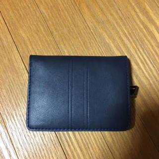 ザラ(ZARA)のzara 二つ折り財布 カードケース ネイビー ポーチ  クラッチ(折り財布)