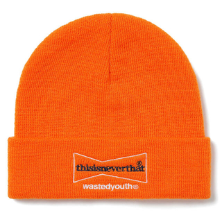 Supreme - thisisneverthat wasted youth Beanie オレンジ