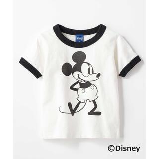 Disney - 値下げ❗️Disney リンガーTシャツ ミッキー クラシック クラシカル 白T