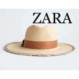 ザラ(ZARA)の4 ZARA ザラ 新品 コントラストバンド付きハット(ハット)