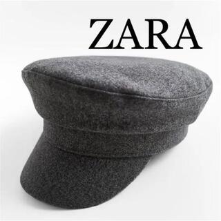 ザラ(ZARA)の4 ZARA ザラ 新品 ウールブレンドマリンキャップ(キャスケット)
