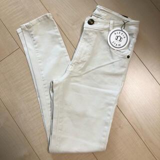 ALEXIA STAM - Arrow Pocket Skinny Jeans Ivory