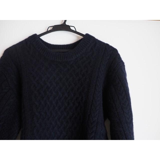 UNITED ARROWS(ユナイテッドアローズ)の新品・未使用 ユナイテッドアローズ アラン柄セーター ネイビー レディースのトップス(ニット/セーター)の商品写真