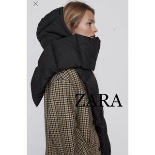 ZARA - 1 ZARA ザラ 新品 キルティング フーデッド ストール