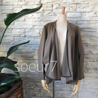 SCOT CLUB - 新品1.8万★上質日本製 soeur7 シンプル上品 ノーカラージャケット