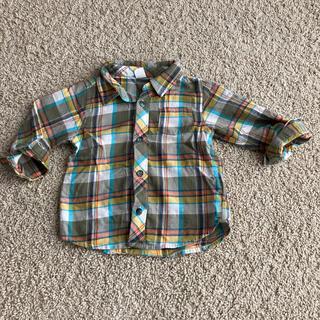 オールドネイビー(Old Navy)のOLDNAVY18-24/1歳半2歳男の子/長袖チェックシャツ\保育園(Tシャツ/カットソー)