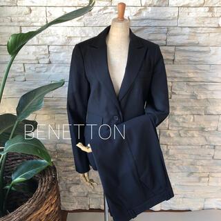 BENETTON - 美品★BENETTON シンプルこなれ美ライン パンツスーツセット
