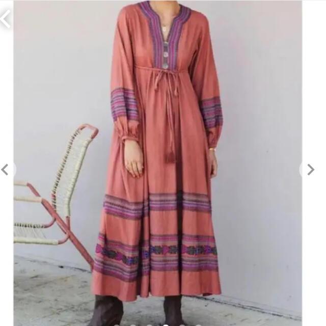 ALEXIA STAM(アリシアスタン)のEmbroidered long sleeve maxi dress レディースのワンピース(ロングワンピース/マキシワンピース)の商品写真