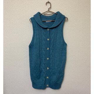 キッドブルー(KID BLUE)のレディース KID BLUE キッドブルー ロングニットベスト F(ニット/セーター)
