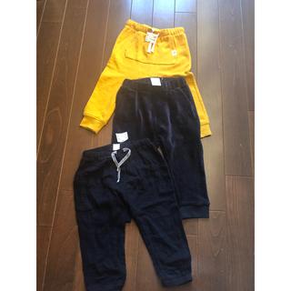 H&M - 新品タグ付き☆両方H&Mのオシャレパンツ90cm2枚セット