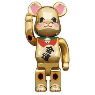 メディコムトイ(MEDICOM TOY)の【新品未開封】BE@RBRICK 招き猫 金運 金メッキ 弐 400%×2体(フィギュア)