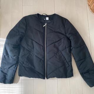 エイチアンドエム(H&M)のH&M 中綿ノーカラージャケット美品(ノーカラージャケット)
