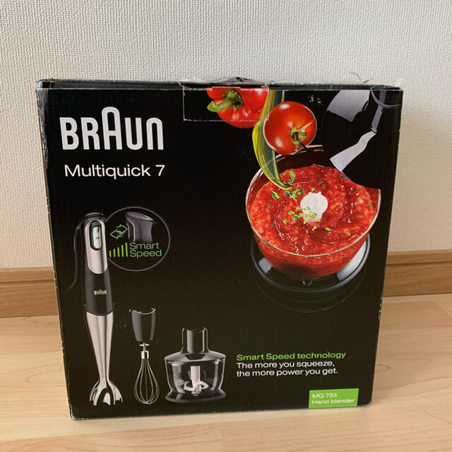 BRAUN(ブラウン)のBRAUN multiquick7 (ハンドブレンダー)新品未使用 スマホ/家電/カメラの調理家電(調理機器)の商品写真