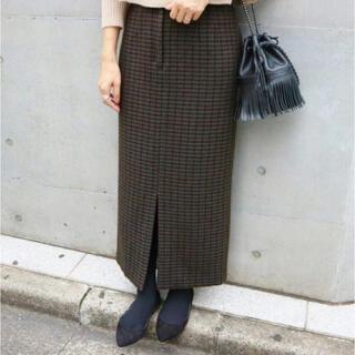 IENA - IENA ウールペンネハイウエストタイトスカート 36サイズ