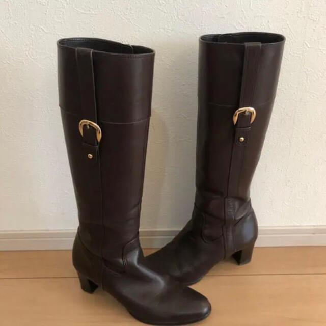 DIANA(ダイアナ)のDIANA 24.5㎝ ロングブーツ ブラウン レディースの靴/シューズ(ブーツ)の商品写真