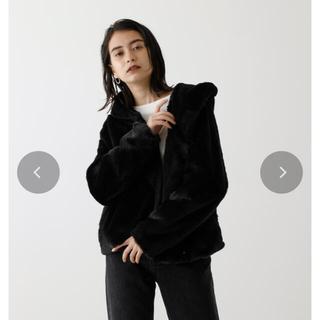 アズールバイマウジー(AZUL by moussy)の大人気♡完売必須ファーコート♡ブラック(毛皮/ファーコート)