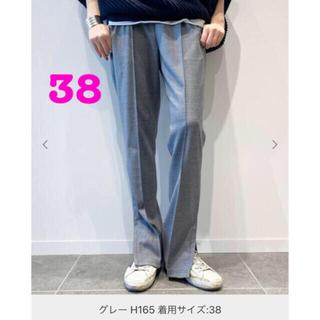 L'Appartement DEUXIEME CLASSE - 【新品タグ付】AP STUDIO W/Pトラックパンツ  グレー 38
