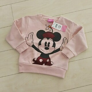 ディズニー(Disney)の新品 ミニーちゃん トレーナー 110(Tシャツ/カットソー)