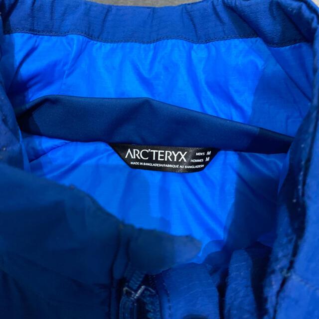 ARC'TERYX(アークテリクス)のARC'TERYX アークテリクス ATOM AR アトムARブルーM中古 美品 メンズのジャケット/アウター(ナイロンジャケット)の商品写真