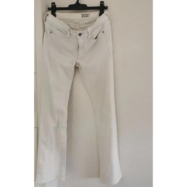 UNIQLO(ユニクロ)のUNIQLOヒートテック スキニーフィットジーンズ オフホワイト27 レディースのパンツ(デニム/ジーンズ)の商品写真
