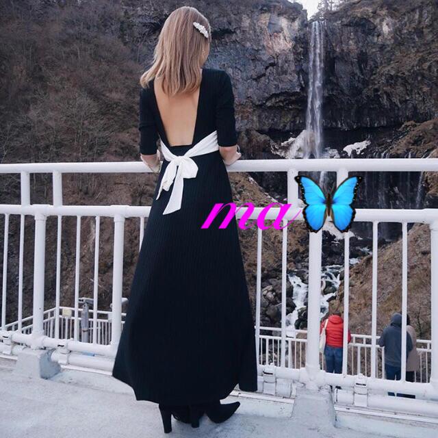 eimy istoire(エイミーイストワール)のeimy istoire♡新品♡即完売♡激レア♥️まなみさん愛用私服 レディースのワンピース(ロングワンピース/マキシワンピース)の商品写真