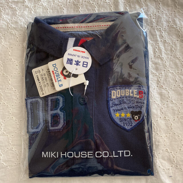 DOUBLE.B(ダブルビー)の新品!120 ダブルB ポロシャツ 半袖 キッズ/ベビー/マタニティのキッズ服男の子用(90cm~)(Tシャツ/カットソー)の商品写真