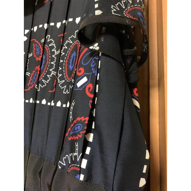 sacai(サカイ)の美品 sacaiペイズリーワンピース レディースのワンピース(ロングワンピース/マキシワンピース)の商品写真