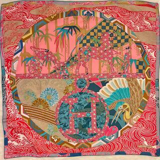エルメス(Hermes)の【ご予約品】エルメス キモノ エクスリブリス カレ スカーフ 90 和柄(バンダナ/スカーフ)