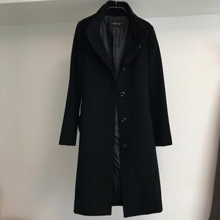 INDIVI カシミヤ100%コート インディヴィ小さいサイズ ブラック黒 5号