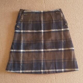 シマムラ(しまむら)のプチプラのあや チェック柄スカート Lサイズ(ひざ丈スカート)