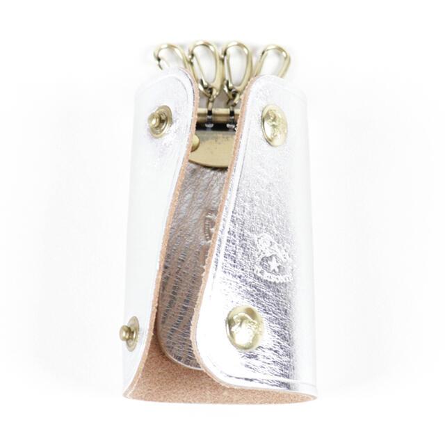 IL BISONTE(イルビゾンテ)の新品 イルビゾンテ キーケース スマートキー シルバー 三つ折り キーホルダー レディースのファッション小物(キーケース)の商品写真
