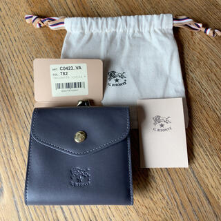 IL BISONTE - イルビゾンテ 財布 がま口 ダークグレー バケッタスムース 新品未使用