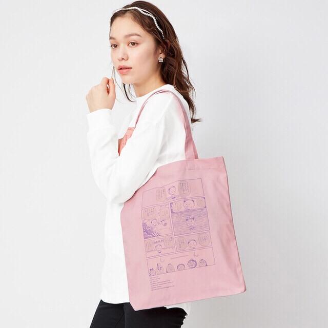GU(ジーユー)のジーユー コジコジ トートバッグ 新品タグ付き GU さくらももこ コラボ レディースのバッグ(トートバッグ)の商品写真