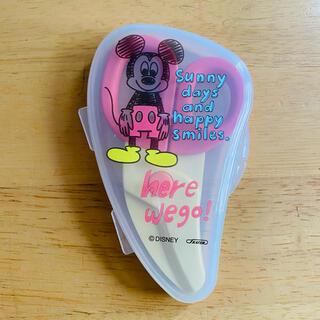 ディズニー(Disney)の外出 外食に ミッキー 離乳食 食事 分解できる はさみ ハサミ 麺カッター(離乳食調理器具)