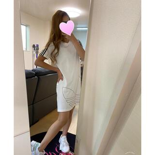 adidas - アディダス❤️White/ミニワンピース