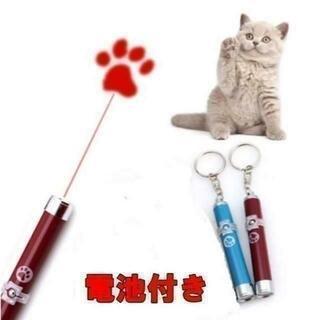 猫 のおもちゃ LED ライト レッド 電池付きですぐ遊べます(猫)