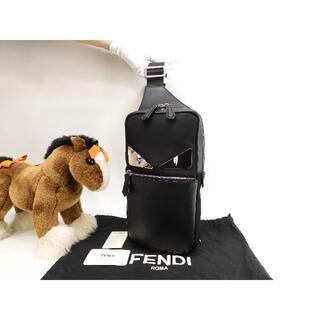 フェンディ(FENDI)のフェンディ ボディバッグ モンスター ナイロン黒 ベルトバッグ 極美品@ 35(ボディーバッグ)