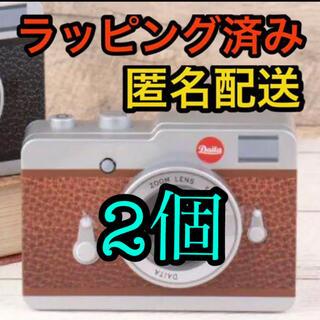 カルディ(KALDI)の新品 カルディ KALDI カメラ缶 ブラウン 2個 ラッピング済み(菓子/デザート)